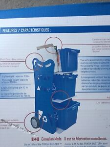 Blue recycle cart. Brand New