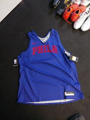 Nike NBA Philadelphia 76ers Player Issue Mens XXL Practice Jersey Vest (466)