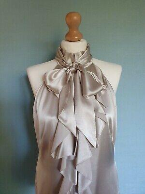 Stunning Ladies Karen Millen Beige Silk Top Size 14