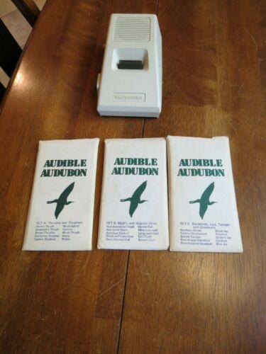 1977 Vtge Audible Audubon Player Microsonics Model EB-6 Microphonograph 29 cards