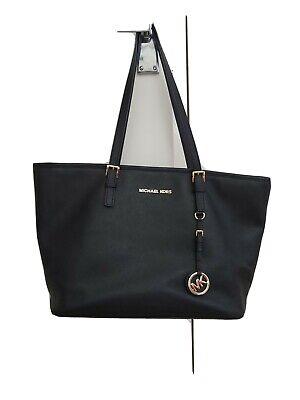 Michael Kors Jet Set Bag Black Saffiano Leather