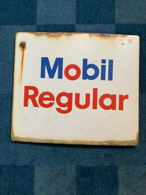 Vintage Mobile Gas Face Sign Dial Porcelain Enamel Pegasus A