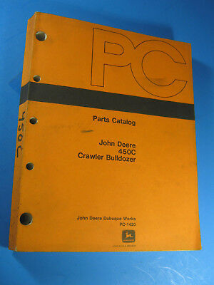 John Deere 450c Crawler Bulldozer Parts Catalog Pc 1420 1983