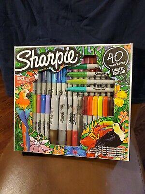 Sharpie Limited Edition Markers Art Pens Wmetallic Ultra Fine Point 40 Pk-new