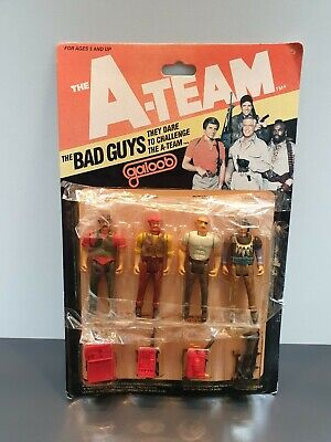 The A-team the bad guys figure pack galoob vintage 1983 Hong Kong