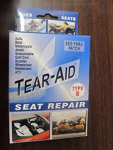 One (1) Tear-Aid Seat Repair Type B Vinyl Patch  NEW  FREE Shipping