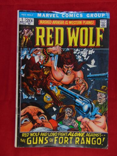 Marvel Red Wolf Comic Book #1 - Dated 1972