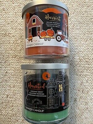 Yankee Candle HAUNTED TRIO and HARVEST TRIO Witches Brew Trick Or Treat