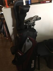 New  right hand golf clubs. Used once . $150.00.