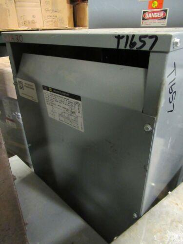 Square D 30T76HBCU, 30 KVA, 480 X 480/277 Volt, COPPER Transformer (NS)- T1657