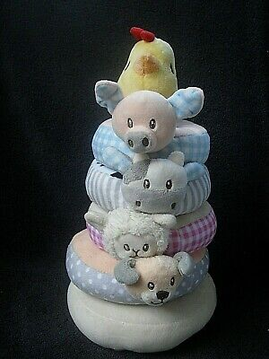 Kellytoy Soft Plush Infant Farm Animal Ring -