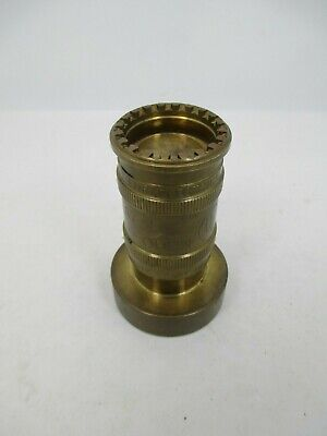 Brass Fire Hose Nozzle A7-j3 647x Ul Operates In Out