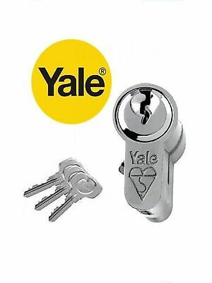 YALE EURO DOUBLE CYLINDER KM30-10-30 NP BRITISH STANDARD 6 PIN - NICKEL PLATED