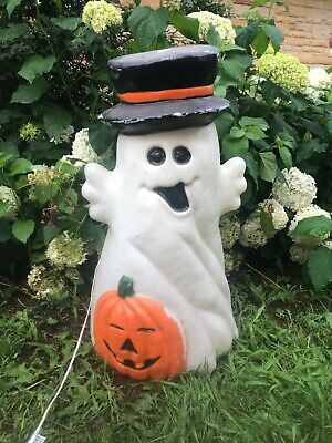 VINTAGE GHOST PUMPKIN 32 INCHES BLOW MOLD HOLIDAY HALLOWEEN YARD DECOR