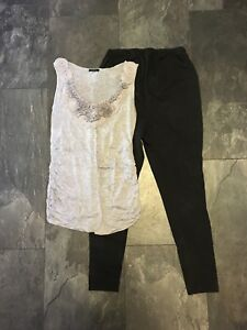 Maternity S too and leggings