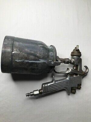 Binks Model 62 Hand Held Air Paint Gun Sprayer With Tank Spray Tip Used