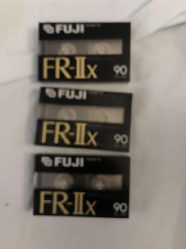 3 New Sealed FUJI FR-IIX SEALED 90 Blank Audio Cassette Tape Pro II IEC High