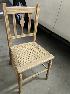 Antique chair and clothes drying rack
