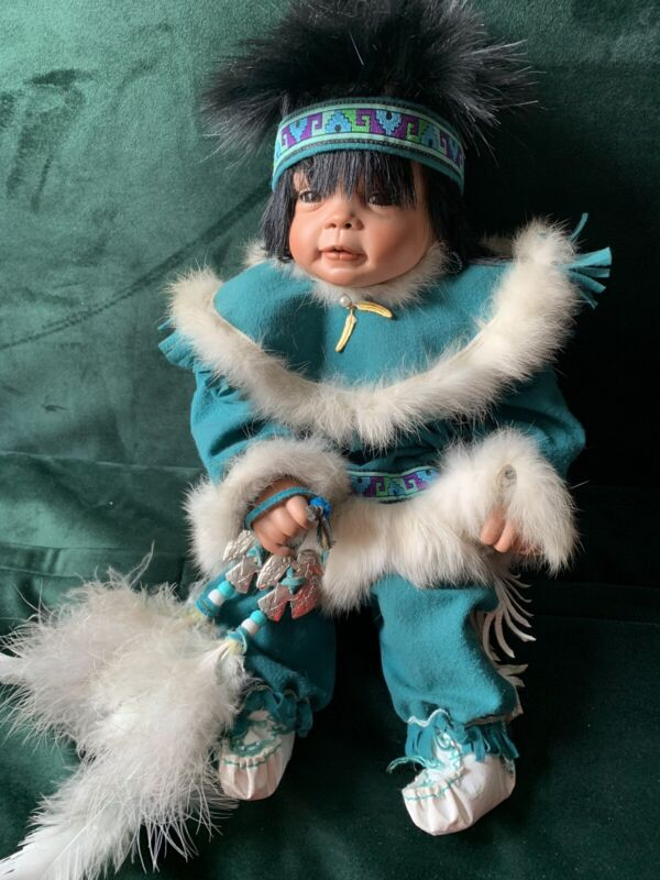 """Native American Indian Baby Doll.  18.5"""""""