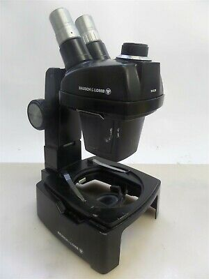 Bausch And Lomb 31-26-84 Trans-illuminator Microscope Base With 1x-2.5x Head