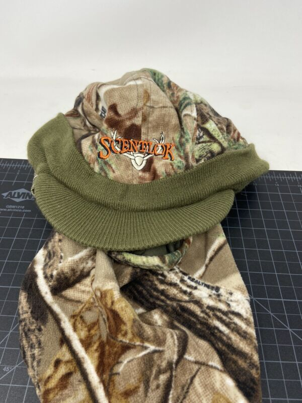 Scentlok Realtree Face Neck Covering Beanie Hat Hunting Timberfleece Cold