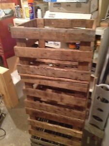 Rustic wood crates