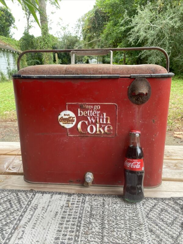1963-1969 Vintage Coca-Cola Cooler...Things go better with a Coke