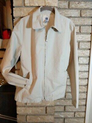 Gap Jacket Coat Ladies Size L Khaki Zip Front Lightweight Weather Resistant EUC!