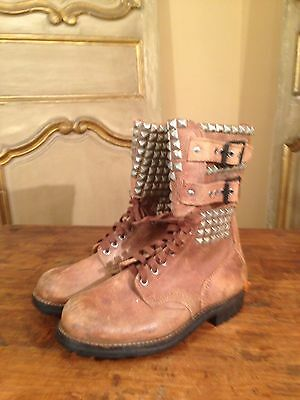 WWII Military Boots French RANGER 50's Foreign Legion Hipster J Toffart Mens 7