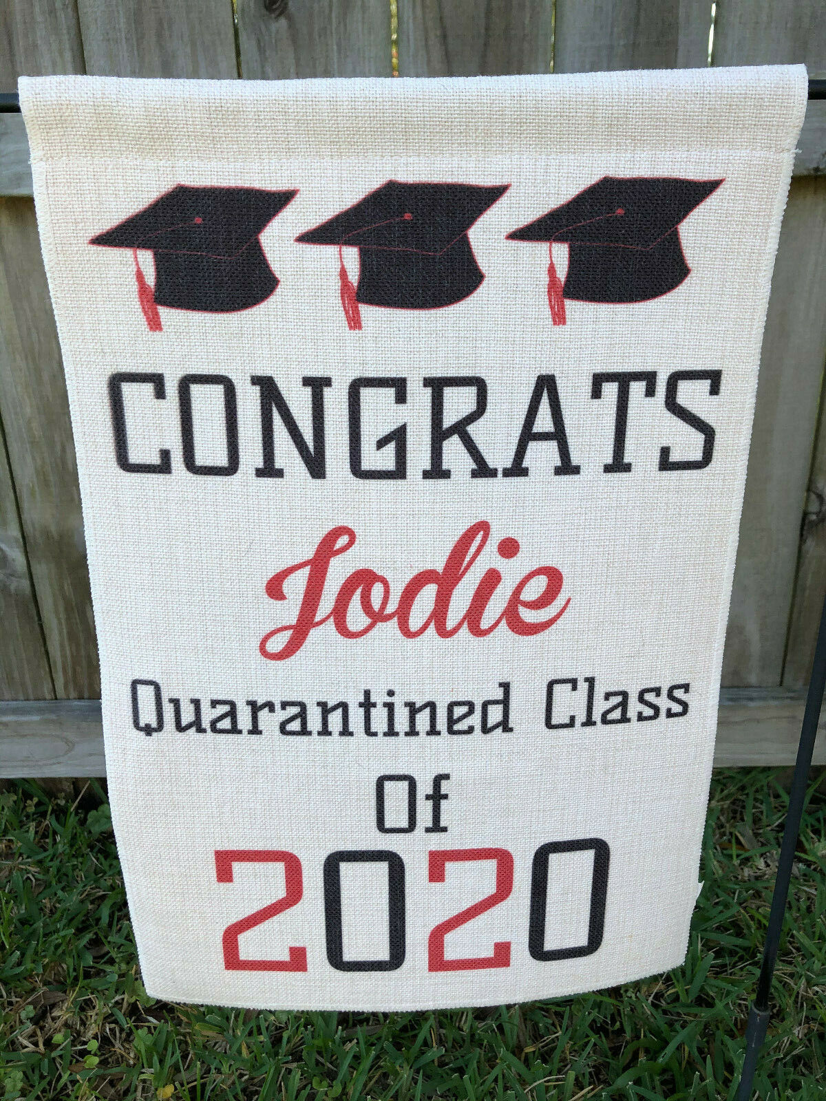 Congrats Graduate Quarantined Class Of 2020 Yard Flag Banner