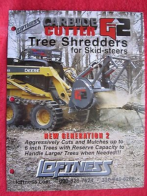Loftness Carbide Cutter Generation 2 Tree Shredders For Skid-steers Brochure