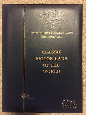 Stamp Collection Classic Motor Cars Of The World. Auto 100. Over 130 Stamps