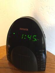 AIWA Digital Dual Alarm Clock Radio Receiver FR-A305U Tested WORKS