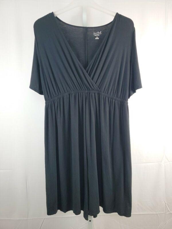 Isabel Maternity Romper Size XXL Black Wrap Neckline Elastic Waist Shorts