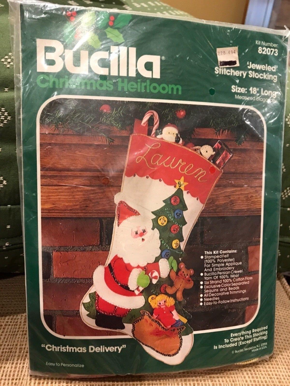 "Bucilla Stitchery #82073 ""Christmas Delivery"" Christmas 18"