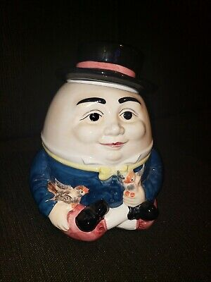 Vintage 1994 Humpty Dumpty Ceramic Cookie Jar 11