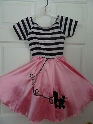 Poodle Skirt Costumes For Girls (GIRL'S POODLE SKIRT DRESS COSTUME SIZE MEDIUM 8-10)