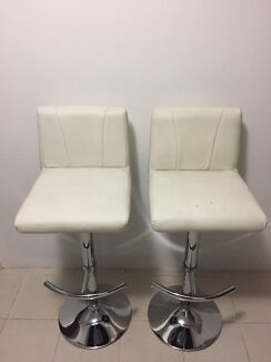 leather bar stools 2x swivels up u0026 down good