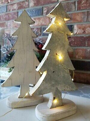 Handmade craft Wood Christmas Tree winter decorOrnaments Props DIY Kids Painting ()