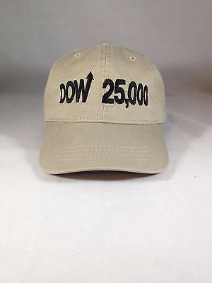 Dow 25000 Hat  Dow 25 000 Cap Djia Stock Market 20000 30000 20 000 30 000