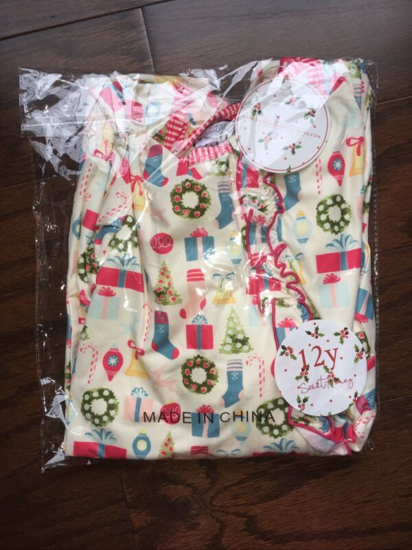 Girls Size 12 Sweet Honey Christmas Pajamas New With Tags