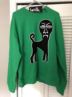 Haculla Sweatshirt! NWT, Demon Dog, Crewneck! XL w/ Bag. Deadstock !
