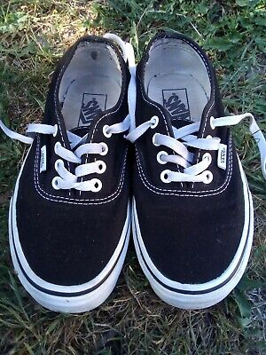 Vans Old School Black & White Skateboard Shoes Trainers-Unisex Size UK 4 US 5