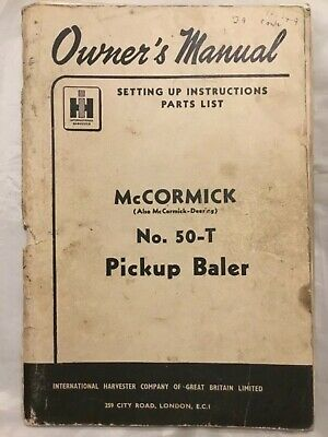 "International /""B-47/"" Baler Operator Instruction Manual Book"