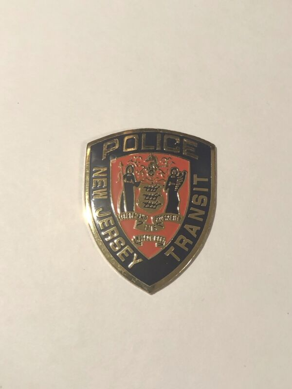 New Jersey Transit Police Small Metal Commercial Emblem
