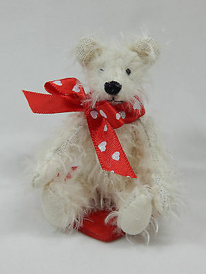 "World of Miniature Bears 3.25"" Mohair Bear Val #1087V Collectible Miniature"
