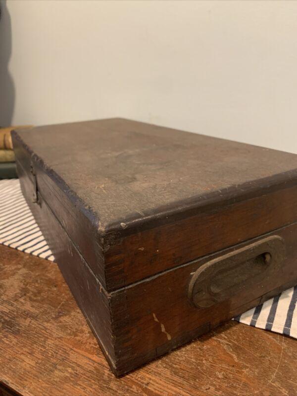Rare Antique Enterprise MFG. Co. Sad Irons  Wood Box Phil. PA salesman