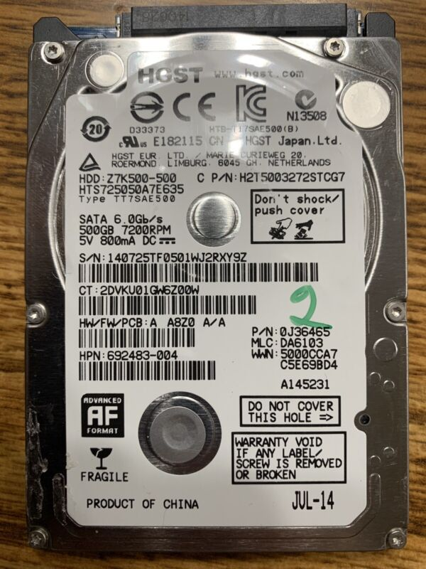 XBOX ONE INTERNAL HARD DISK DRIVE Hitachi HGST 500GB REPLACEMENT SATA