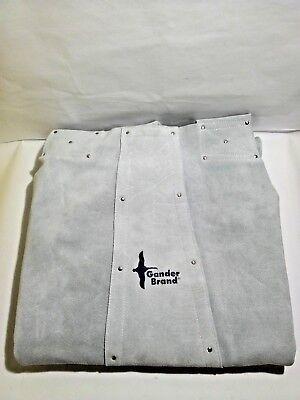 Bob Dale Gloves 64162 Welding Apron Leather Split Leg Bib Apron Knee Length Gray
