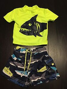 Carter's 9 month boys bathing suit and swim shirt
